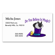 Do You Believe in Magic Business Card
