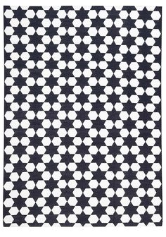 Jaipur Black dhurrie by The Rug Company