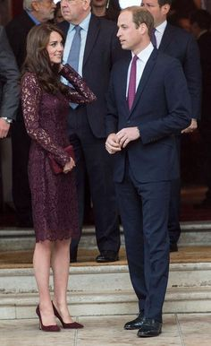 Kate Middleton finished off her gorgeous Dolce & Gabbana lace dress with matching maroon Gianvito Rossi heels - click for info on this pair and more of her favorites
