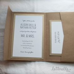 This listing is the price for one wedding invitation set sample. The samples are not customized with your information and contains the following pieces: Pocket Invitation and Envelope RSVP Card and Envelope Belly Band & Ribbon If you are ready to make a full purchase, please
