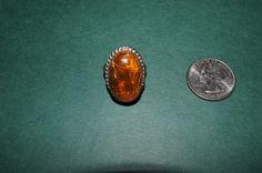 Vintage 1970's - Baltic Soviet Era Latvian Amber Ring by TheMercerStreetHouse on Etsy