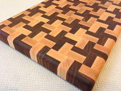 Handmade Butcher Block Cross Design Endgrain by Legalwoodworks