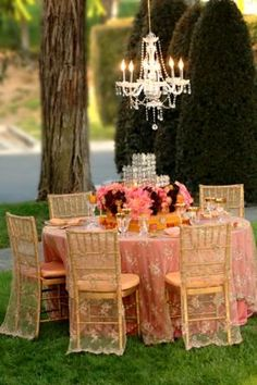 Table and chair linens inspiration