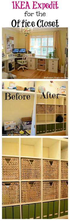 Organize a Closet with an IKEA Expedit