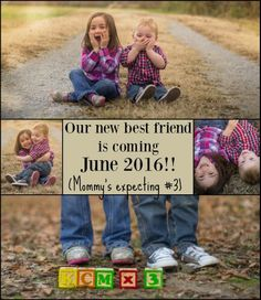 3rd baby announcement All kids have KCM initials!