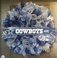 Dallas Cowboy wreath, football decor, fall wreath, pro football decor, nfl decor, texas wreath,home decor