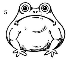 Vintage Kids Printable - Draw Some Frogs - The Graphics Fairy
