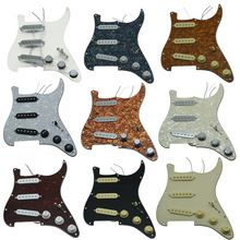 Kaish Various Custom Loaded Strat Pickguard Prewired St Pickguard With Ceramic Pickups Fits For Fender
