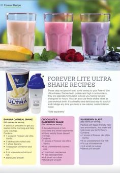 Blend your ForeverLite with Fruits ... Is nice. http://www.team4dreams.flp.com/
