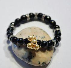 Kifejezöképesség karkötő -ónix,Swarovszki kristàly Beaded Bracelets, Jewelry, Jewlery, Jewerly, Pearl Bracelets, Schmuck, Jewels, Jewelery, Fine Jewelry