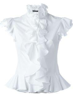 Alexander McQueen 'Harness' ruffled top