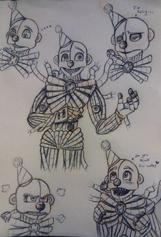 """xravenbladex: """"So uuh…my first post…err….have this stupid sketchdump i did of the spaghetti clown man… """""""