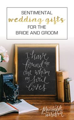15 wedding gift ideas for the bride and groom!