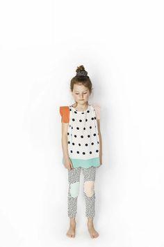 SS16 Jenny Top, Happy Legs Dot Leggings