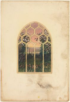 Design for window Louis Comfort Tiffany (American, New York 1848–1933 New York) Maker: Possibly Tiffany Glass Company (1885–92) Maker: Possibly Tiffany Glass and Decorating Company (1892–1902) Maker: Possibly Tiffany Studios (1902–32) Date: late 19th–early 20th century Geography: Mid-Atlantic, New York, United States Culture: American