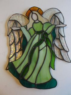 Christmas Angel of Grace by Cut10Glass on Etsy