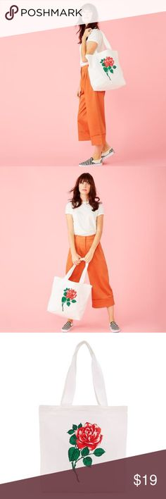 🌼 NWT BAN.do Rose tote 🌼 Still selling at $25 on Ban.do website! I have never used this, still in its plastic packaging from Ban.do. Totally adorable, I just have a few too many totes already! Nice size, can fit laptop, a jacket, or use for grocery store! Beautiful rose graphic. ban.do Bags Totes