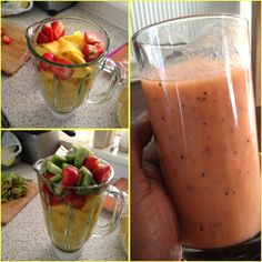 Quick and Healthy Smoothie Recipes Yummy Smoothies, Smoothie Recipes, Diet Recipes, Vitamix Recipes, Green Smoothies, Healthy Recipes, Healthy Juices, Healthy Drinks, Healthy Snacks