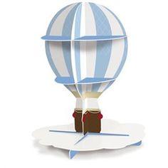 Suporte para Doces e Cupcakes 2 Andares Balão Avião Vintage Cromus