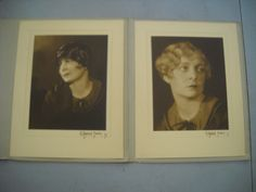 2 Vintage 1925 Signed G. Maillard Kesslere Photographs Actress Dora Lee