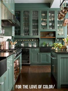 Michael Wurm, Jr. | BHG Style Spotters--Love this kitchen color.