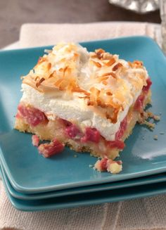 """A press-in-the-pan crust makes this easier-than-pie rhubarb dessert that taste extra-heavenly! """"This is far the best rhubarb recipe that I have ever tried, I have been making it for just over a year now and everyone who tries it, wants the recipe, throw away your old rhubarb crumble recipe and have a new favorite with this one, even rhubarb skeptics will love this dessert!"""" raves Betty member Shar75."""