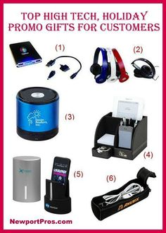 Best High Tech Holiday Promotional Gifts for Clients | www.newportpros.com  #promoproducts #holidaypromo