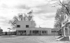 Osuusliike Aura Vihdin Nummelassa (Huttunen 1938). http://www.helsinki.fi/kansalaismuisti/nummela/uusilohjantie/nummela_kuvia.htm #funkis #funkkis #functionalism