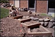 Univ of MN Extension How to build timber landscape steps Landscape Stairs, Landscape Timbers, Urban Landscape, Landscape Design, Garden Design, Garden Stairs, Terrace Garden, Garden Paths, Hillside Landscaping