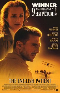The English Patient poster. Ralph Fiennes and Kristen Scott Thomas star.