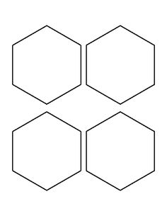 4 inch hexagon pattern. Use the printable outline for crafts, creating stencils, scrapbooking, and more. Free PDF template to download and print at http://patternuniverse.com/download/4-inch-hexagon-pattern/