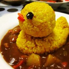 Duck curry this is so cute   Lol I need this, but mom Always said don't play with your food