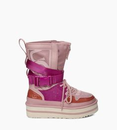 Original UGG® Pop Punk High-Top Trainer for Women on the official UGG® website. High Top Sneakers, Ugg Sneakers, Sneakers Mode, Latest Sneakers, Casual Sneakers, Pop Punk, Cool Shoes For Women, Sneaker Pink, Shoes