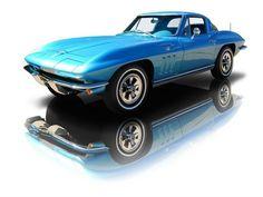 1965 Blue Chevrolet Corvette Coupe 327 V8 300 HP 4 Speed