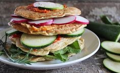 Savory Oat Pancakes is a twist on traditional pancakes; these pancakes can be topped and layered with savory toppings for breakfast, lunch, or dinner. Savoury Pancake Recipe, Savory Pancakes, Oat Pancakes, Pancake Recipes, Bubble, Vegetarian Recipes, Healthy Recipes, Free Recipes, Healthy Food