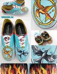 Hunger Games Canvas Shoes by ~artsyfartsyness