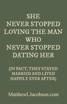 When to stop dating a married man
