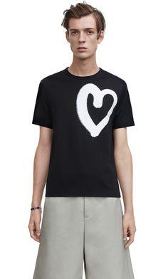 Eddy heavy cotton jersey t-shirt with heart print  AcneStudios  menswear   SS15 cd89b826269
