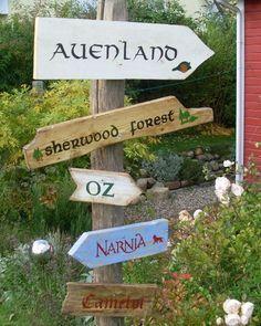 5 märchenhafte Holzschilder für den Garten von AlmaWoods auf DaWanda.com