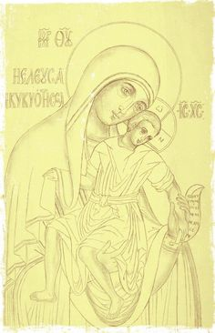 Byzantine Icons, Byzantine Art, Religious Icons, Religious Art, Line Drawing, Painting & Drawing, Coloring Books, Coloring Pages, Greece Painting