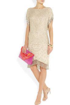 Matthew WilliamsonSwarovski crystal-embellished silk-chiffon dress