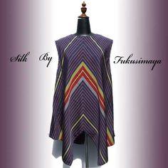 【正絹のチュニック☆アンティーク着物をリメイクした一点物☆紫】こちらのチュニックは昭和10年ごろのアンティーク着物をリメイクした作品です。素材はシルク100%...|ハンドメイド、手作り、手仕事品の通販・販売・購入ならCreema。