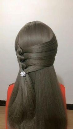 Wedding Hairstyles Tutorial, Simple Wedding Hairstyles, Diy Hairstyles, Hairstyles Videos, Office Hairstyles, Anime Hairstyles, Stylish Hairstyles, Celebrity Hairstyles, Hair Up Styles