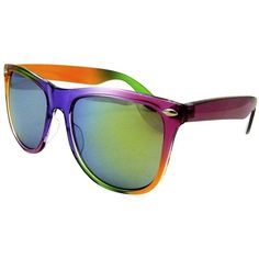 Xhilaration® Ombre Sunglasses - Rainbow ($13) ❤ liked on Polyvore