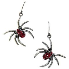 """Crystal Spider Earrings 1 1/2"""" Long Sparkling Boxed ($15) ❤ liked on Polyvore featuring jewelry, earrings, crystal jewellery, sparkle jewelry, black earrings, sparkly earrings and long black earrings"""
