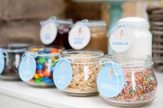 ice cream buffet for kids birthday party | Candy Ice Cream Shop Parlor Stand Boy Girl Birthday Party
