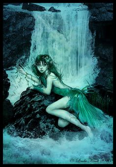 In Slavic mythology, a rusalka was a female ghost, water nymph, succubus or mermaid-like demon that dwelled in a waterway. If they saw handsome men, they would fascinate them with songs and dancing, then lead the person away to the river floor to their death. The Rusalka could not live long on dry land, but with her comb she was always safe, for it gave her the power to conjure water when she needed it. Should the rusalka's hair dry out, she will die.