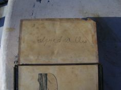 Alfred Wallis St Ives - Old leather Book of Church Services,drawings,signed. | eBay