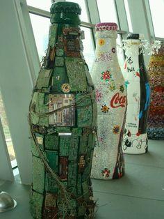 Coca Cola bottles.