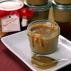 This is my favorite way to make dulce de leche. It's easy and cooks right in the jars that it will be stored in or given as gifts.